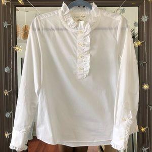 Kate Spade Regal Ruffled White Dress Blouse